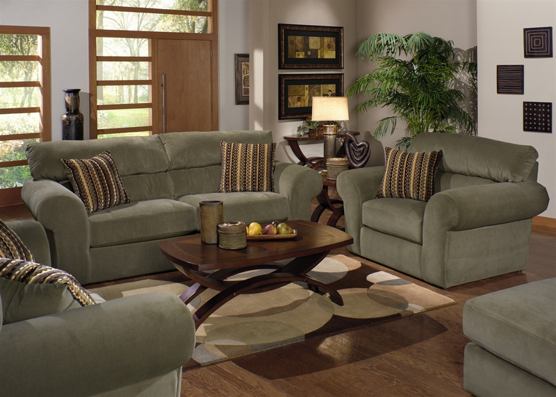 Sofa And Love Seat Set Casual Traditional Carbon Gray Sofa
