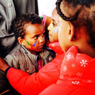 Face painting was one of several activities at Expo, the annual family festival in Asmara, Eritrea during its two-week opening in August 2014. Among other activities was an art room next to the photo exhibits where children and youth were supplied with canvas paper and encouraged to paint freely.