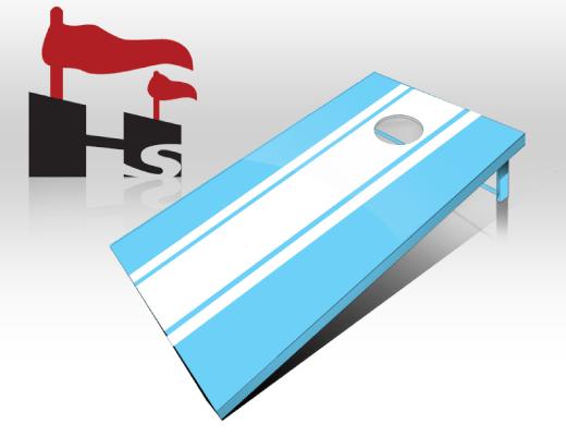 cornhole stripe blue white