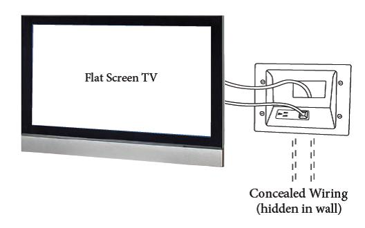 DataComm Recessed Low Voltage Mid-Size Plate with Duplex Surge Suppressor