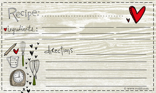 Recipe Template Free - FREE DOWNLOAD