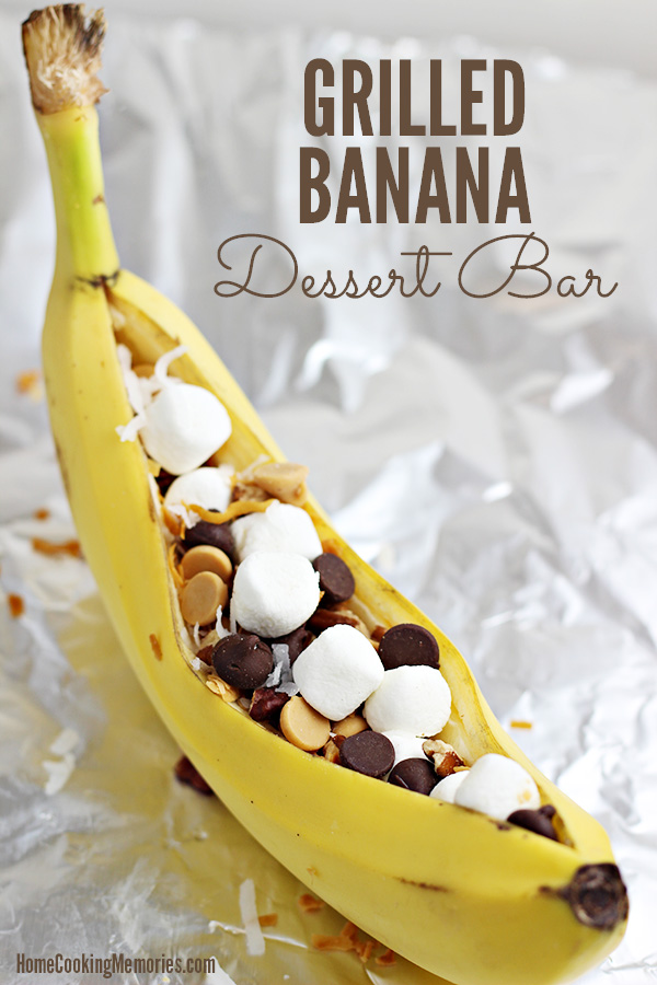 This Easy Grilled Banana Dessert Bar Idea is sure to be a hit with family and friends at your next summer BBQ! Learn how to make grilled bananas, plus get plenty of topping ideas.