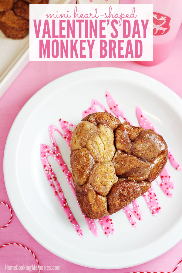 Mini Heart-Shaped Valentine's Day Monkey Bread Recipe