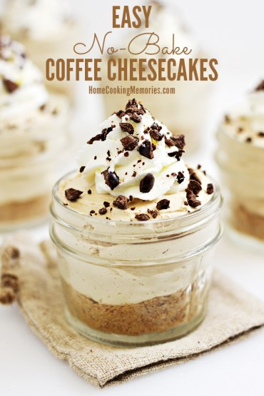 Coffee lovers, this is for you: Easy No-Bake Coffee Cheesecakes recipe! This is so good and SO easy. You'll seriously be able to make these mini dessert cups in less than 30 minutes.