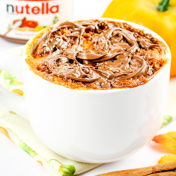 microwave pumpkin nutella mug cake