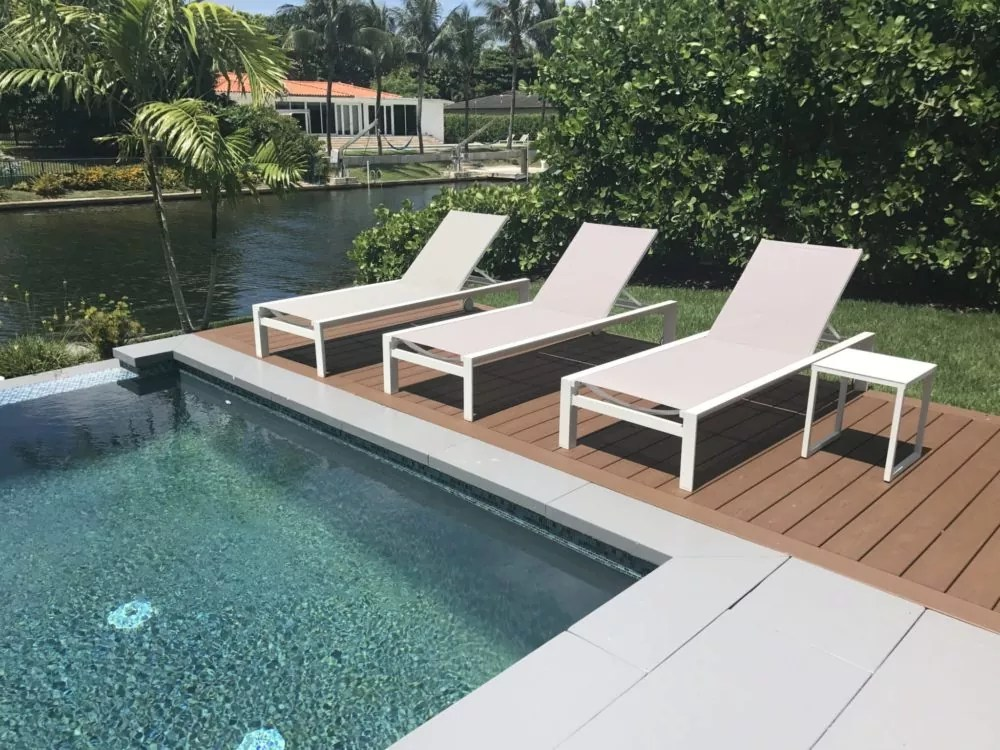 miami pool outdoor chaise lounge chairs