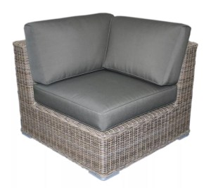 dark wicker chair corner seat