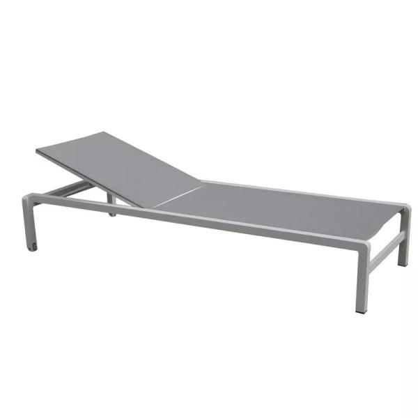 gray white lounge chair