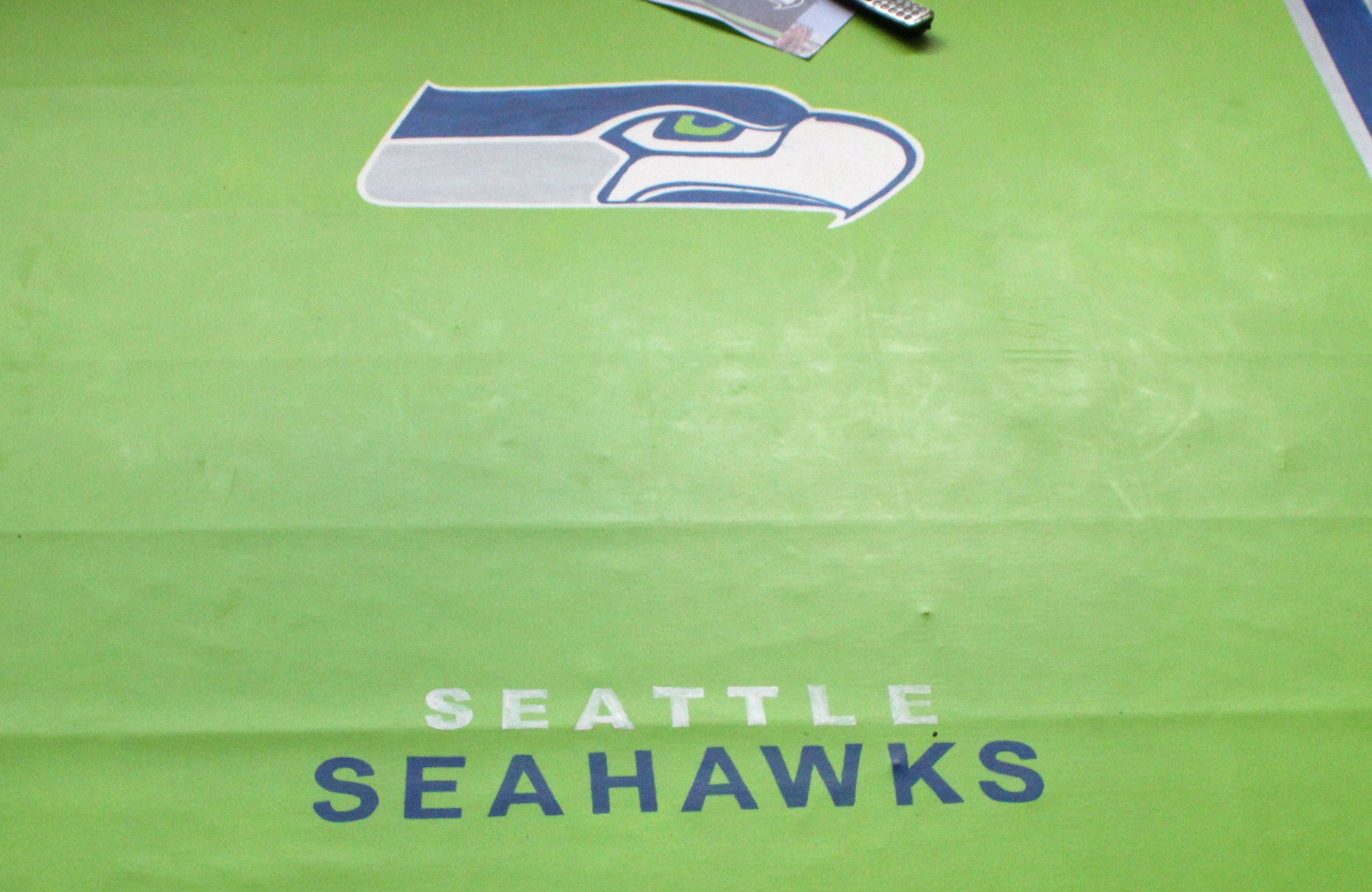 Diy Seattle Seahawks Floor Rug By Kathleen Heady