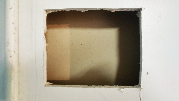 How to patch a big drywall hole