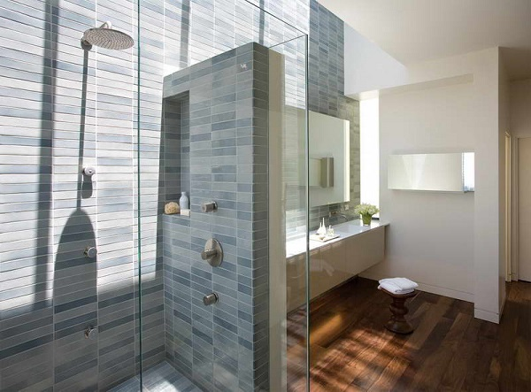 Small-Shower-Floor-Tile-Designs-With-Wood