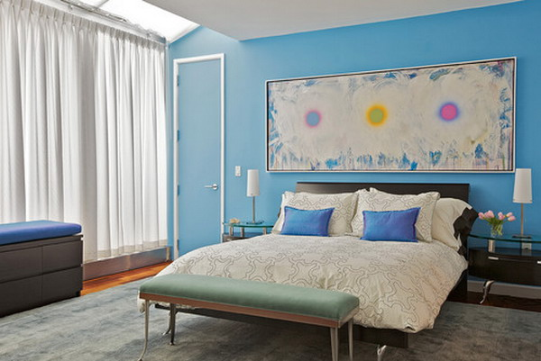 Bedroom-Design-with-Wall-Art-Painting