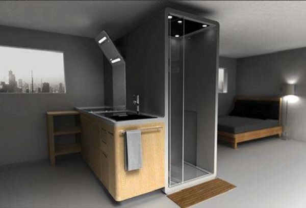 space efficient furniture. 6 kitchen integrated bathroom space efficient furniture u