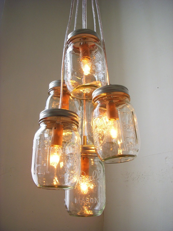 diy bedroom ideas mason jars lighting