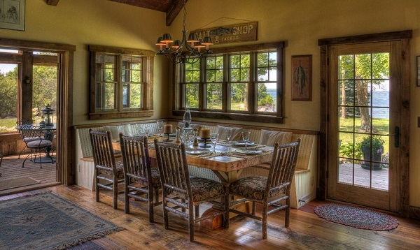 rustic-corner-dining-area-with-bench-and-chairs