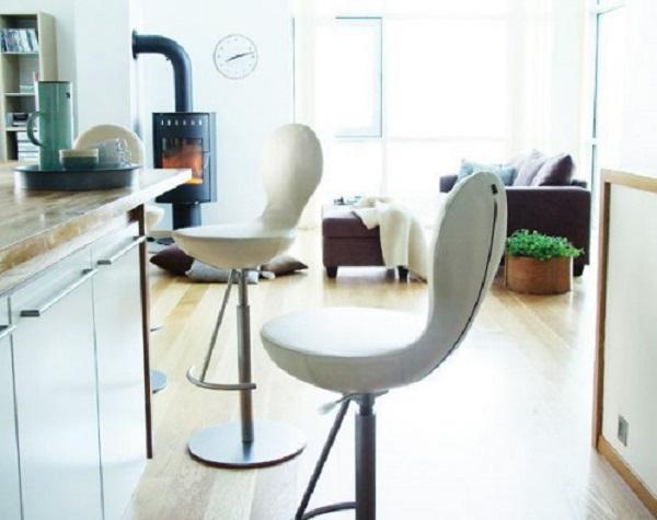 white kitchen stool