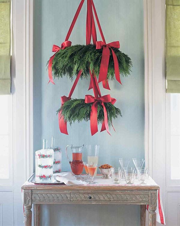 cedar wreath chaandelier