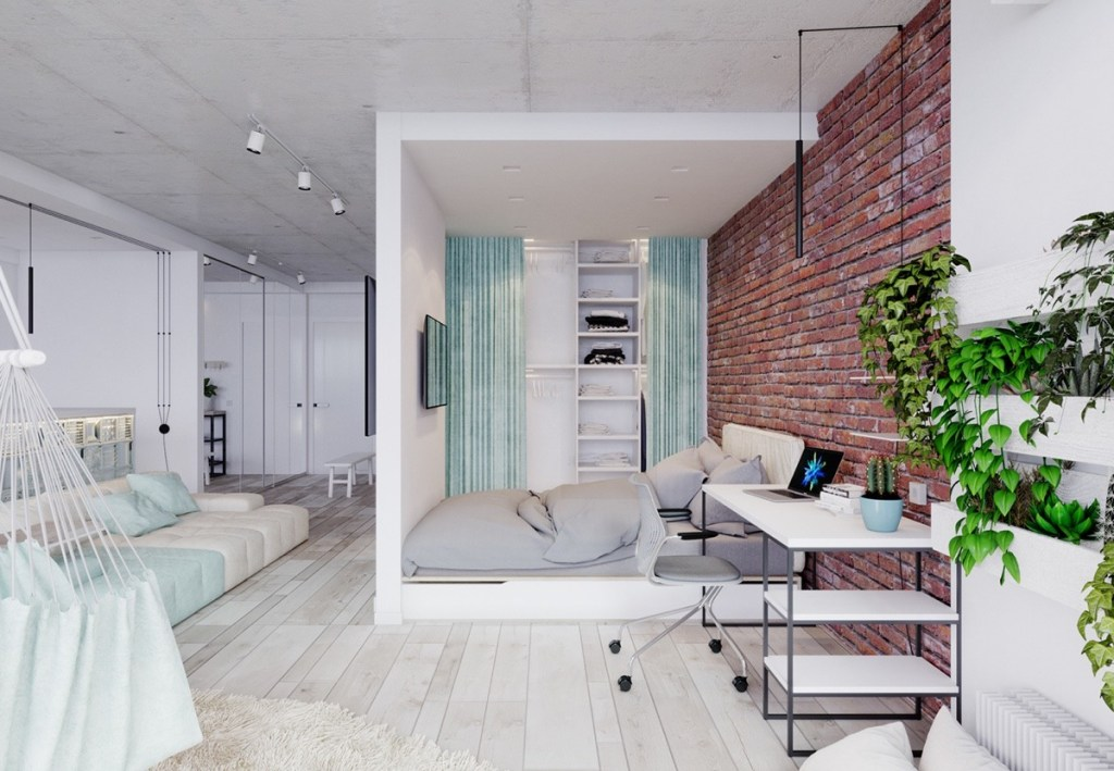 Studio Apartment Separate Sleeping Area 8 creative bedroom placement for your studio apartment