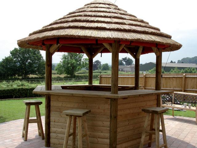 Building Outdoor Tiki Bar on Backyard Bar With Roof id=39305