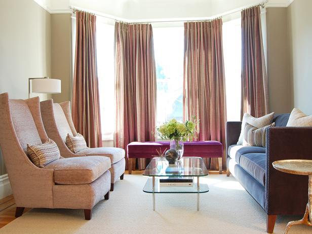 Seat Ideas Lliving Room Decorating Ottoman A Bay Window