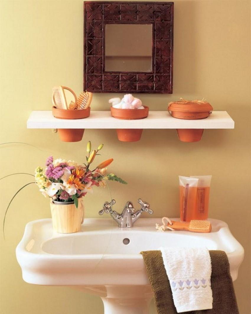 interesting pedestal sink storage ideas