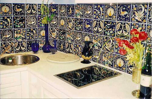 cobalt blue tile decoration home