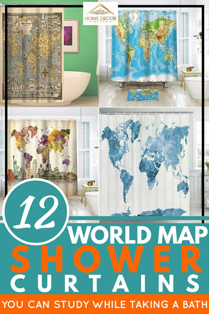 12 world map shower curtains you can