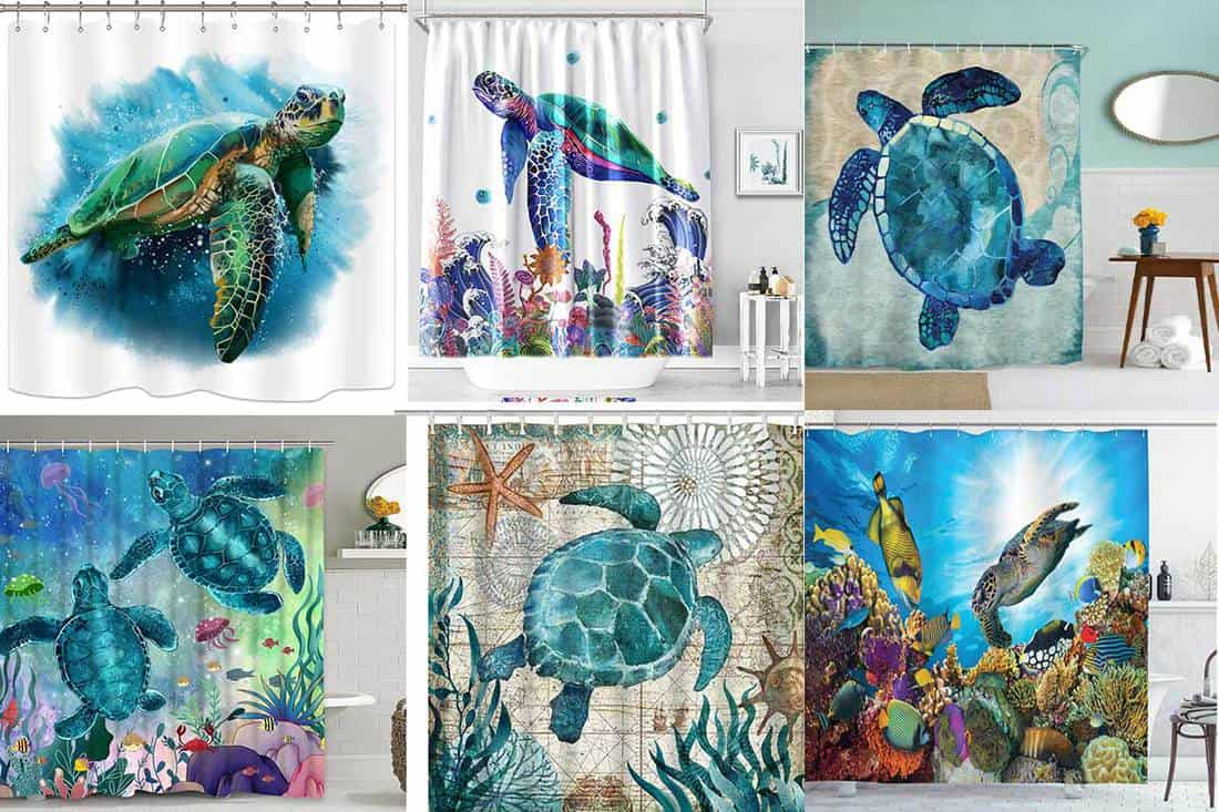 10 awesome sea turtle shower curtains