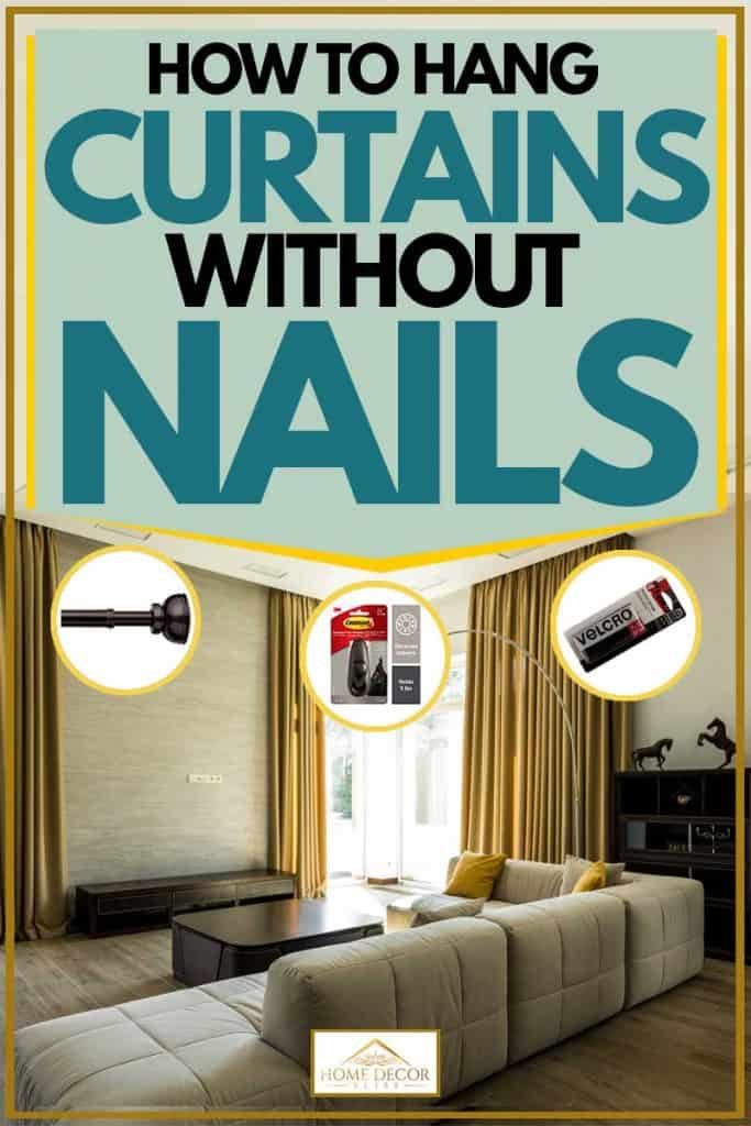 how to hang curtains without nails