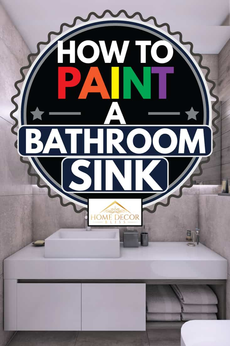 how to paint a bathroom sink home