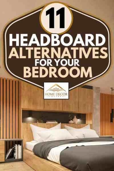 Başlık alternatifi ahşap dolaplı modern bir yatak odası iç tasarımı, Yatak odanıza 11 Başlık Alternatifi