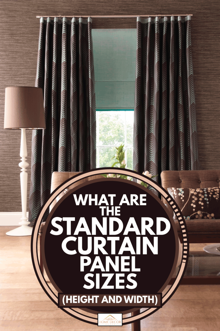what are the standard curtain panel
