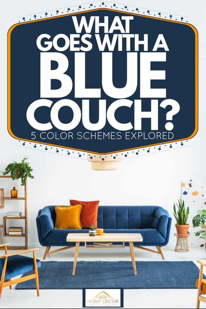 what goes with a blue couch 5 color