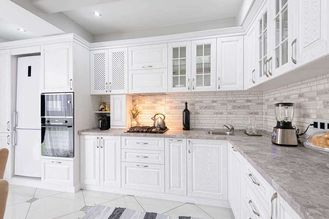 what color cabinets go with white tile floor home decor bliss