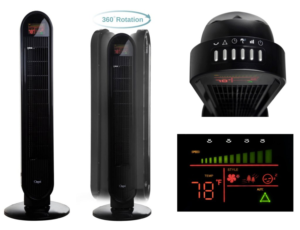 Ozeri 360 Oscillation Tower Fan