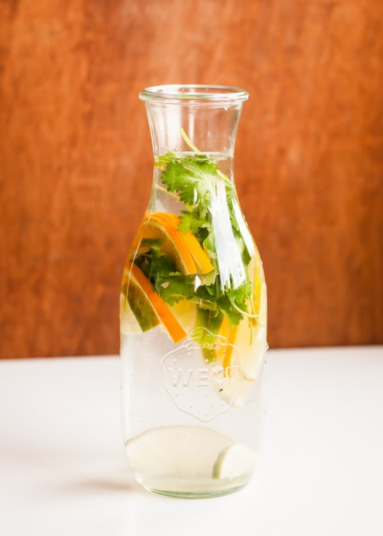 Citrus and Cilantro Infused Water