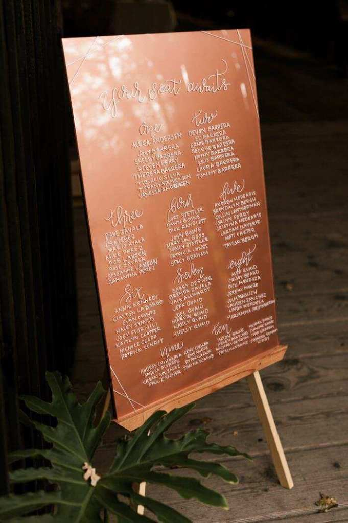 large wedding seating chart ideas