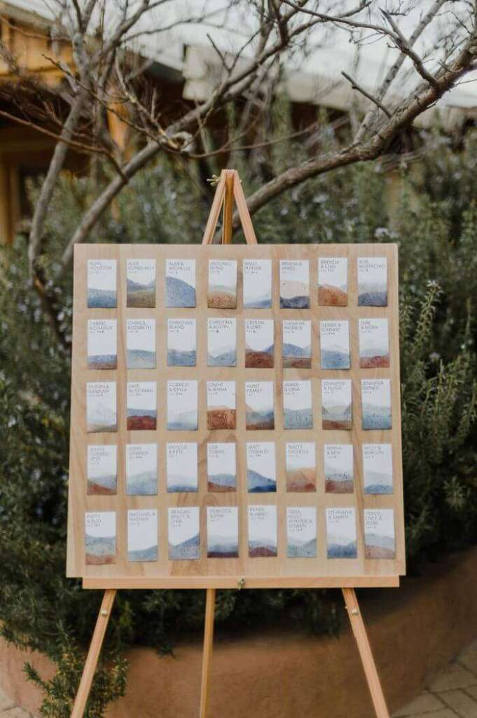 wedding seating chart ideas trees