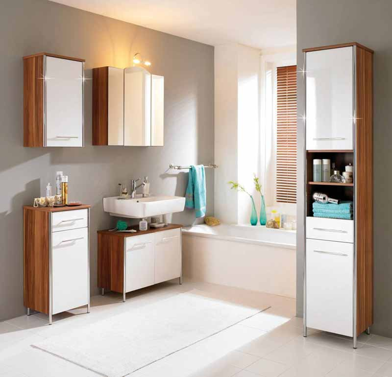small white bathroom cabinet