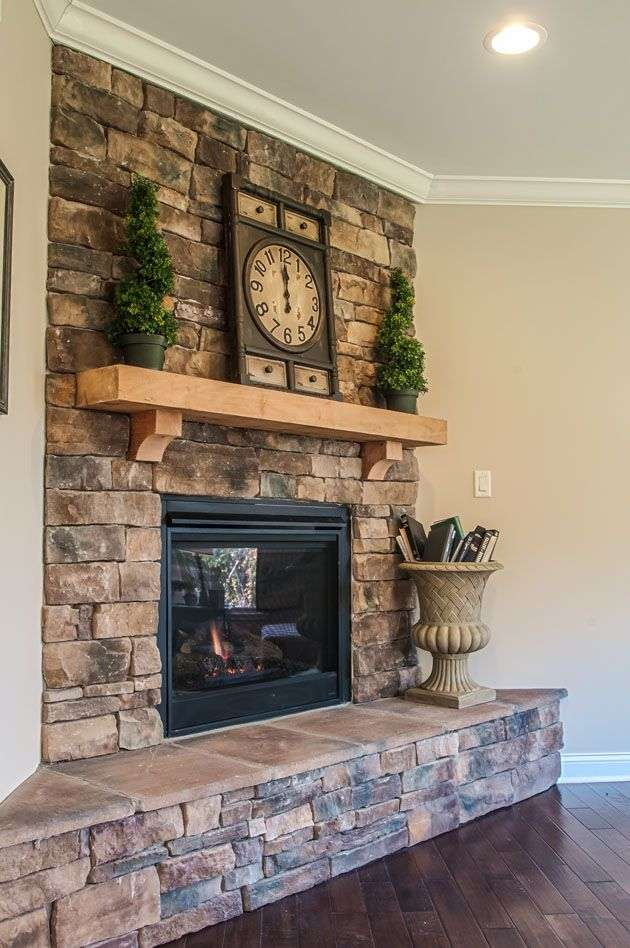outdoor corner fireplace