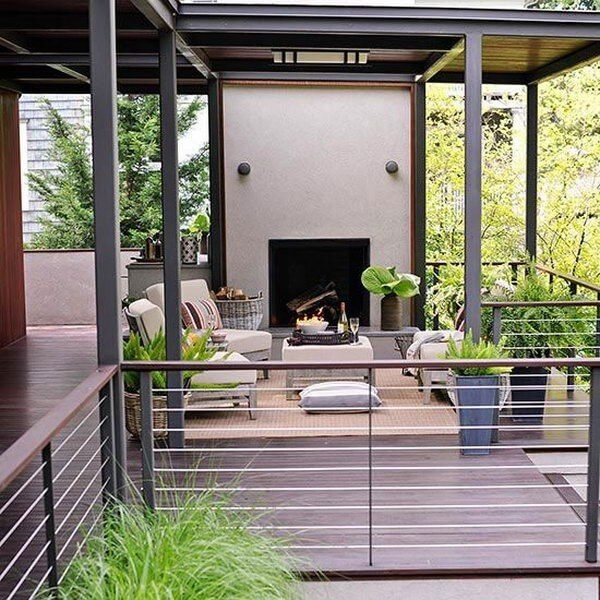 creative deck railing ideas
