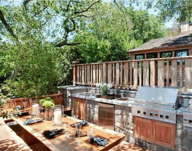 outdoor kitchen ideas rustic