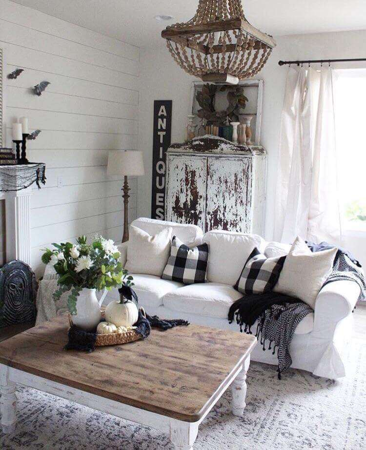 rustic living room decor