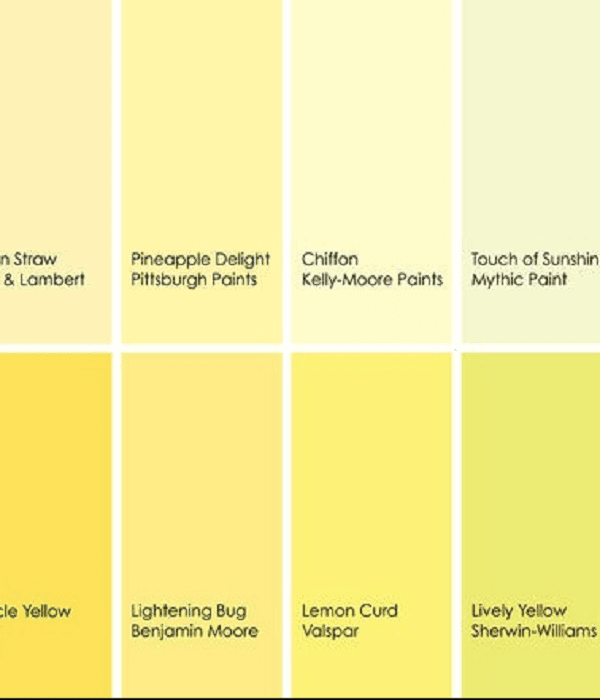94 shades of yellow