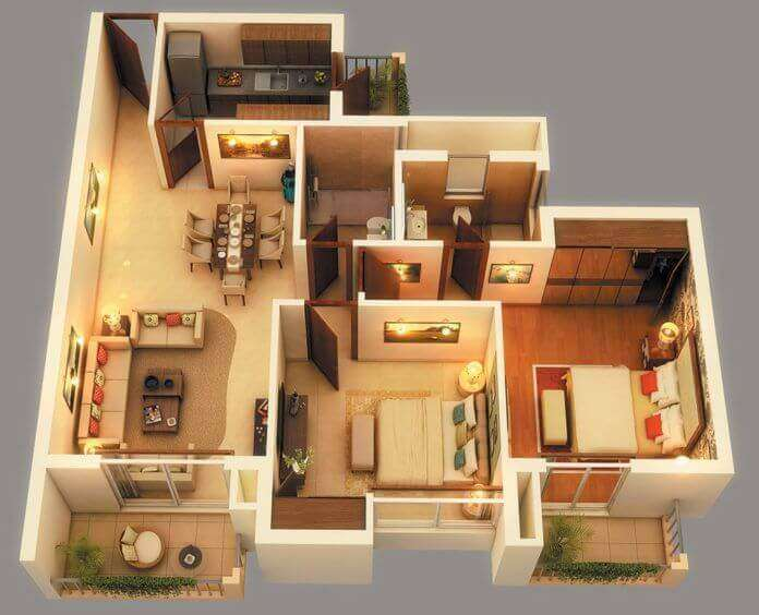 2 bedroom barndominium floor plans
