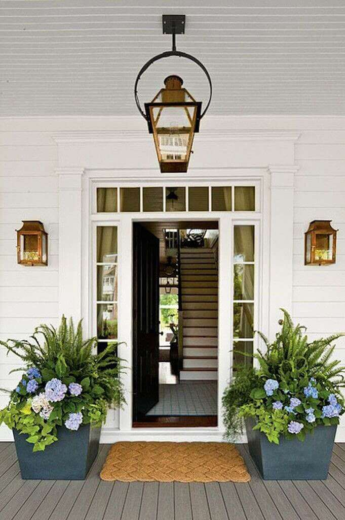 best price on flower pot in front door entry