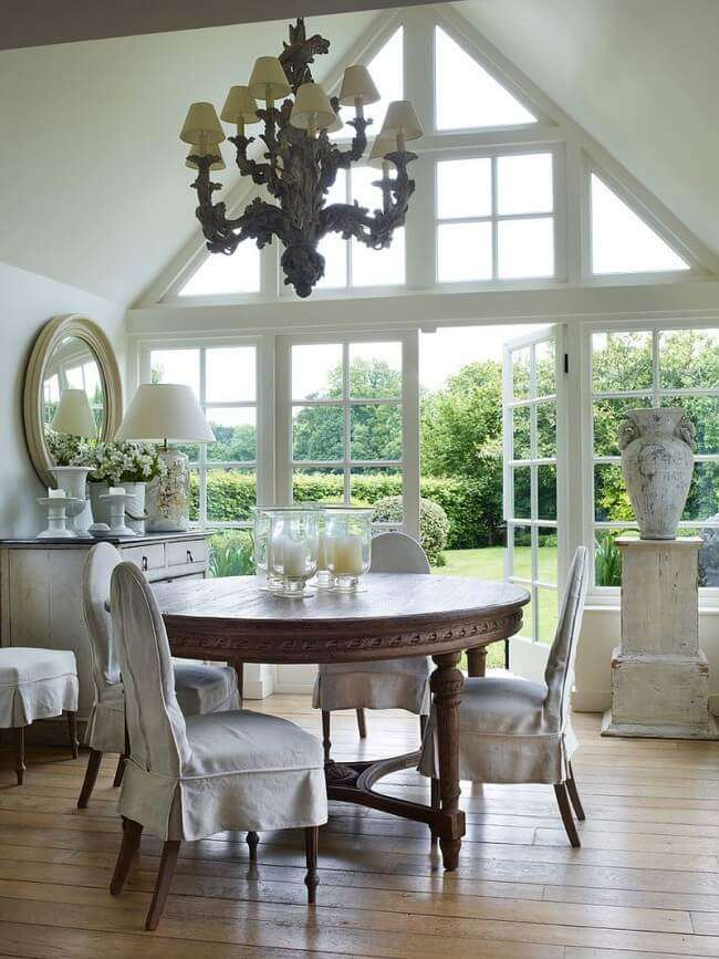 modern farmhouse dining room lighting