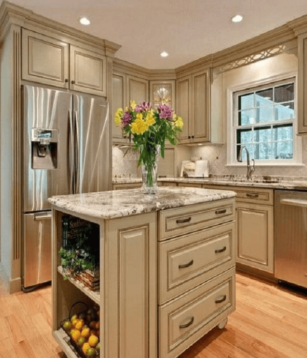 kitchen antique white cabinets