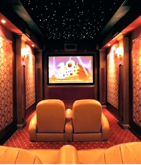 home theater room size