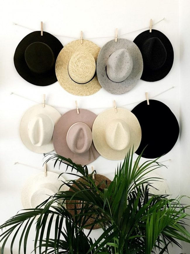 hat rack diy simple